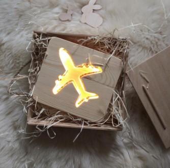 Ночник из дерева для детской,детский светильник,деревянный ночник в комнату. Киев. фото 1