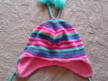 Фирменная флисовая шапка для девочки 2-3 года.. Ужгород. фото 1