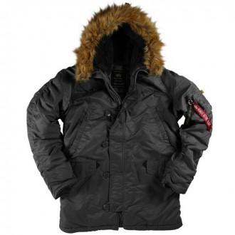 Классические мужские куртки Аляска Американской фирмы Alpha Industries, USA. Днепр. фото 1
