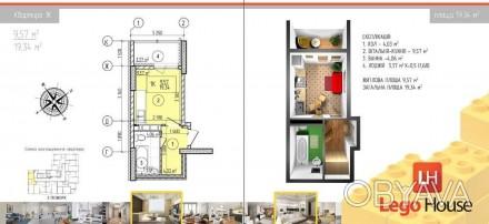 Продаю квартиру-студію у новобудові,на стадії будівництва,збудовано 20поверхів, . Киев, Киевская область. фото 1