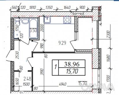 """Продається 1-кім. квартира в сучасному ЖК """"AVILA"""", який розташований неподалік р. Корбутовка, Житомир, Житомирська область. фото 1"""