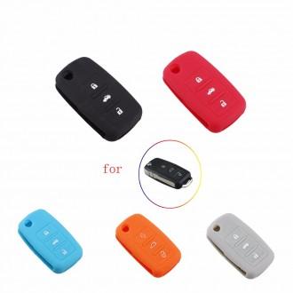 Силиконовый Чехол на выкидной ключ на 2 и 3 кнопки. Запорожье. фото 1