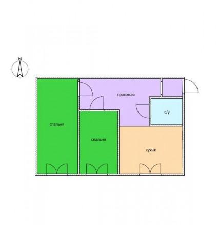 Предлагаем купить 2-х комнатную квартиру по улице Сегедская. Квартира требует ре. Малий Фонтан, Одеса, Одеська область. фото 7