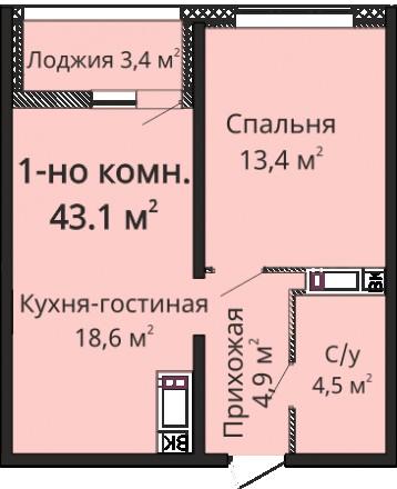 Однокомнатная квартира 43 кв.м. на пл. Толбухина. Надежный застройщик. Высокий у. Малиновський, Одеса, Одеська область. фото 3