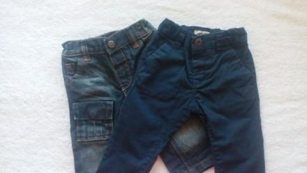Модные джинсы и штанишки 2шт Next 3-6мес. Рост 62-68см.. Ивано-Франковск. фото 1