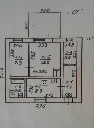 Дом, Толбухина/Ванцетти, 65 кв.м., на участке 5,5 соток, постройки 80 г.г., 2 ко. Киевский, Одесса, Одесская область. фото 6
