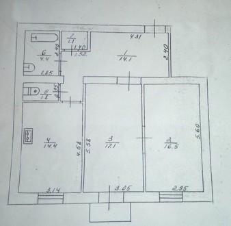 2 комнатная сталинка 69 м2 возле Площади. Квартира располагается на 2 этаже 3 эт. Украина, Чернигов, Черниговская область. фото 6