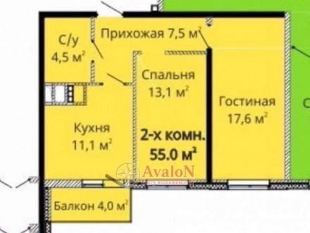 Продаётся 2-х. комнатная квартира в самом сердце Молдаванки возле Михайловской п. Черемушки, Одеса, Одеська область. фото 3