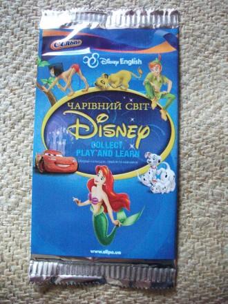 Карточки Disney Чарівний світ для изучения английского новые. Киев. фото 1