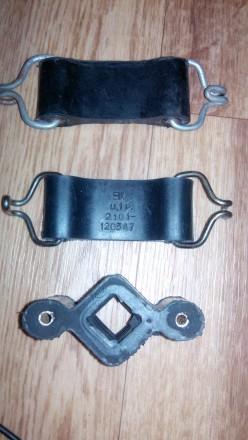 Подушки глушителя ВАЗ-2101 3шт. (2 стяжки и буфер) комплект. Кривой Рог. фото 1