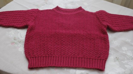свитер темно-малиновый узор колосок. Одесса. фото 1