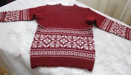 свитер снежинка бордовый. Одесса. фото 1