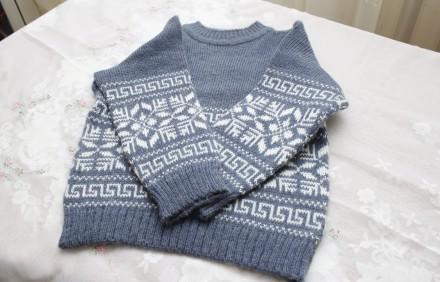 свитер серый ромб. Одесса. фото 1