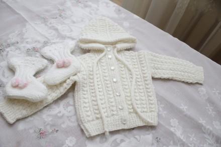 костюмчик для новорожденного ручная вязка. Одесса. фото 1