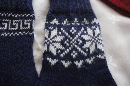 носки узор снежинка. Одесса. фото 1