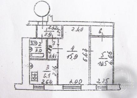 квартира под офис, или магазин общей площадью 42 м2 на первом этаже кирпичного д. Центр, Чернігів, Чернігівська область. фото 4