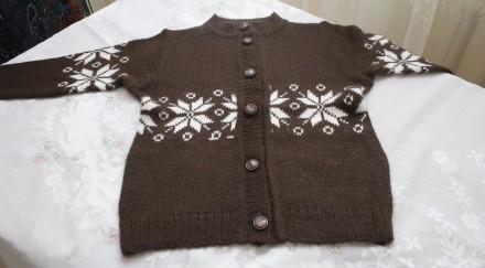 кофта коричневая снежинка.. Одесса. фото 1