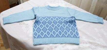 свитер бирюзовый с ромбами.. Одесса. фото 1