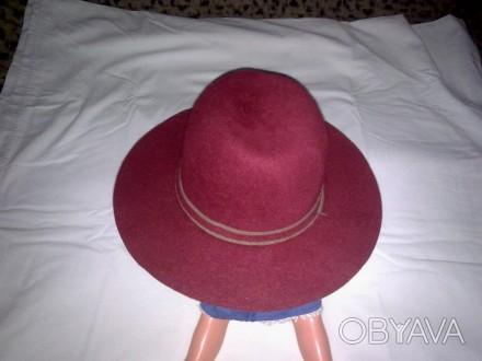Шляпа жіноча . Фетрова  світло вишневого кольору .Окрім основного призначення мо. Кропивницкий, Кировоградская область. фото 1