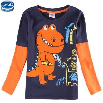 Кофта, реглан Днозавр TM Nova. Николаев. фото 1