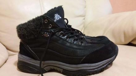 Ботинки Kappa кожа(нубук)+замша цвет черный состояние отличное(можно сказать-иде. Измаил, Одесская область. фото 3