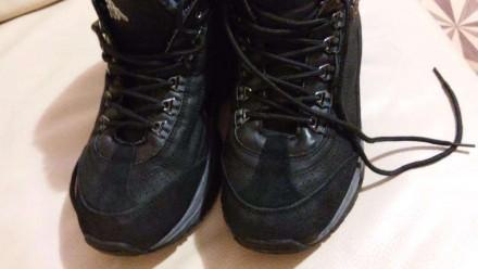 Ботинки Kappa кожа(нубук)+замша цвет черный состояние отличное(можно сказать-иде. Измаил, Одесская область. фото 5