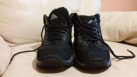 Ботинки Kappa кожа(нубук)+замша цвет черный состояние отличное(можно сказать-иде. Измаил, Одесская область. фото 4