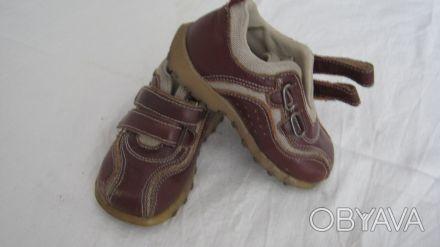 Осенне-весенние ботинки для мальчика р.24, 14,5см по стельке.б\у, состояние хоро. Днепр, Днепропетровская область. фото 1