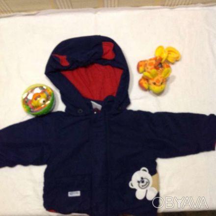 Куртка на мальчика, размер на бирке не указан, будет на 12-24 мес, состояние иде. Дніпро, Дніпропетровська область. фото 1