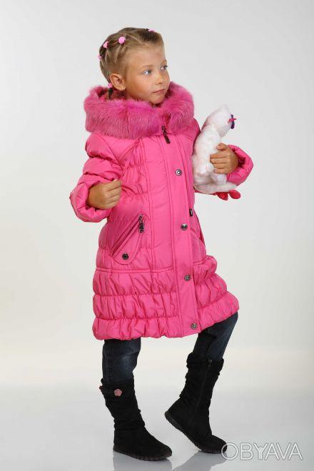 Теплое зимнее пальто для девочек . Размеры 134-152 см. Пальто средней длины, до . Днепр, Днепропетровская область. фото 1