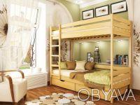 Кровать двухъярусная Дуэт (бук щит). Днепр. фото 1