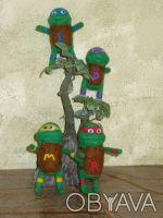 """Валяные игрушки """" Нинзя - черепашки """" будут отличным подарком всем кто вырос и п. Днепр, Днепропетровская область. фото 7"""