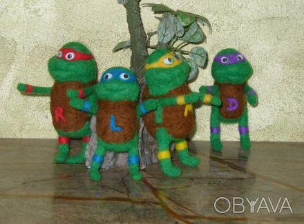 """Валяные игрушки """" Нинзя - черепашки """" будут отличным подарком всем кто вырос и п. Днепр, Днепропетровская область. фото 1"""