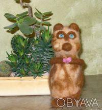 Авторская валяная игрушка выполнена из 100% кардочесанной новозеландской шерсти . Днепр, Днепропетровская область. фото 3