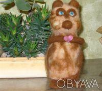 Авторская валяная игрушка выполнена из 100% кардочесанной новозеландской шерсти . Днепр, Днепропетровская область. фото 4
