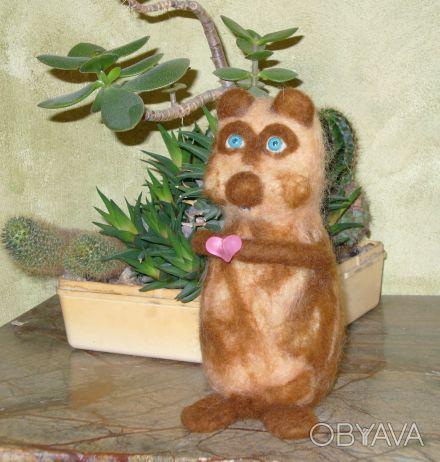 Авторская валяная игрушка выполнена из 100% кардочесанной новозеландской шерсти . Днепр, Днепропетровская область. фото 1