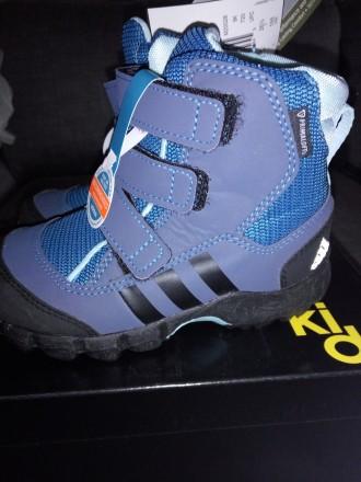 Adidas, зимние ботинки 25, 26, 27 размер, 17. 5, 16, 5, 15. 5 стелька. Арбузинка. фото 1