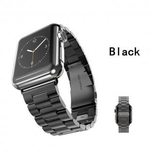 Ремешок металлический Xincuco для Apple Watch 38mm. (черный, золото). Киев. фото 1