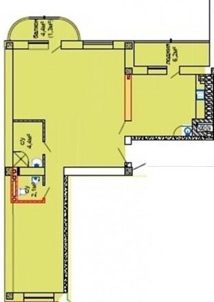 К Вашему вниманию шикарное предложение квартира в новом сданном кирпичном доме. . Таірова, Одеса, Одеська область. фото 4