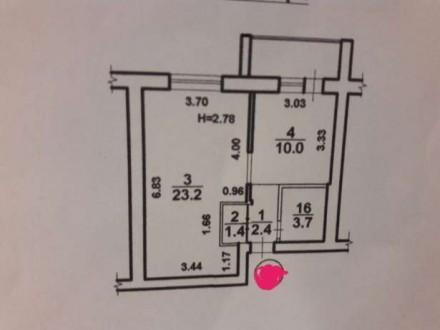 Продам однокомнатную квартиру в сданном кирпичном доме! Дом сдан больше 2х лет н. Червоний Хутір, Одеська область. фото 7