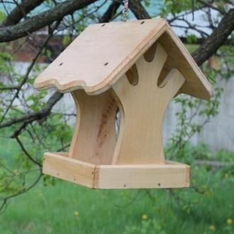 Деревянная кормушка под названием Дерево. Кормушка изготовленная из натурального. Чернигов, Черниговская область. фото 3