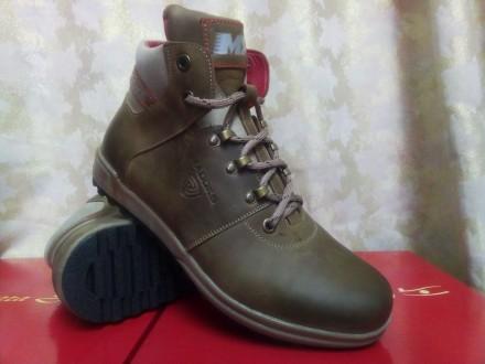 Стильные зимние оливковые ботинки Madoks Распродажа. Одесса. фото 1