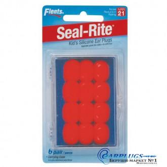 Беруши для детей Flents Seal-Rite (6 пар!). Оранжевый цвет!. Киев. фото 1