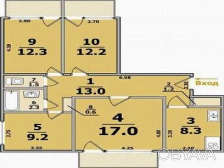 Квартира чиста, 4 кімнати всі ізольовані, є 2 балкони та 1 лоджія. Опалення цент. Львів, Львівська область. фото 1