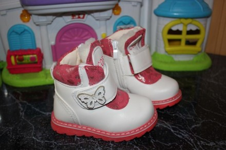 Зимние ботинки для девочки. Зимові черевики р. 22, 23, 24, 25, 26, 27. Дрогобыч. фото 1