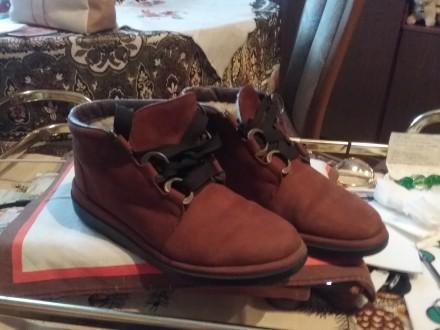 Ботинки для девочки,  на натуральном мех. 35 размер. Черновцы. фото 1