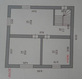 Коттедж 2 этажа.Сдан в 1998г. Строили для себя.Газ по двору проведен.план есть. . Киев, Киевская область. фото 10