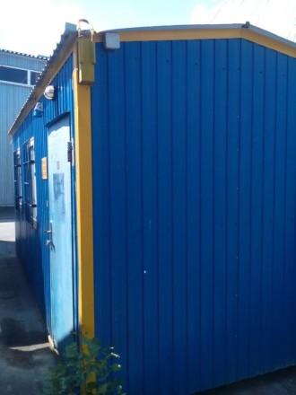 Вагончик-бытовка, металлический. Наружный размер 6x2.5.  Основание - металличес. Киев, Киевская область. фото 4