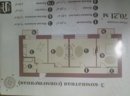 Появилась новая 3-к квартира. Выгодная беспроцентная рассрочка. Правильная 3-х. Малиновський, Одеса, Одеська область. фото 3