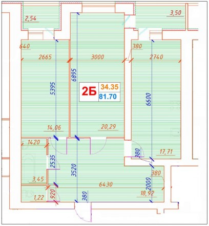 Продам двухкомнатную квартиру в новом престижном доме -переулок Институтский 34. Центр, Суми, Сумська область. фото 3